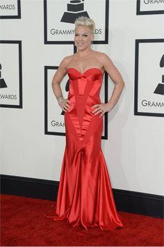 #Grammy2014: i look delle star - http://www.tentazionefashion.it/grammy-2014-look-delle-star/ #fashion #look #vip #outfit #redcarpet  #pink