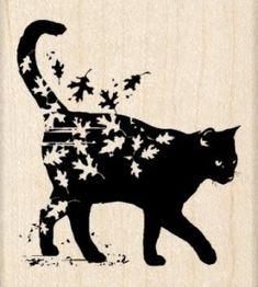 Fall Cats, Black Cat Art, Black Cats, Black Kitty, Image Chat, Cat Silhouette, Cat Tattoo, Tattoo Bird, Tattoo Stars