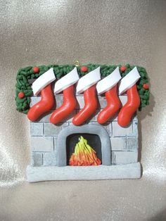 family Christmas ornament personalized polymer clay by clayqts, $18.95