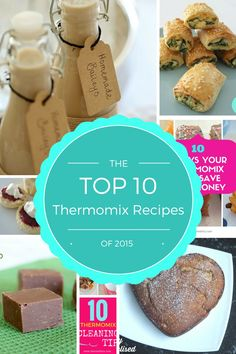 The Top 10 Thermomix Recipes of 2015 - ThermoBliss Top Recipes, Other Recipes, Sweet Recipes, Cake Recipes, Cooking Recipes, Homemade Baileys, Bellini Recipe, Thermomix Desserts, Savory Snacks