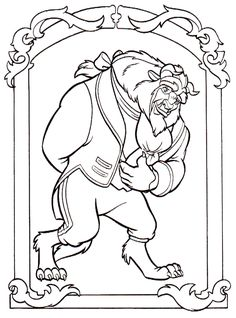 78 Best Coloring Pages Lineart Disney Beauty And The Beast Images In