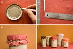 diy wedding table numbers, maybe with some pie crust ingredients inside as a take away (favor).  Hmmm.