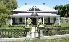 Harkaway Homes - Classic Victorian and Federation Verandah Homes - Gabled Victorian - Pavilion and Homesteads Australia's leading Reproduction Home specialists Cottage Design, Cottage Style, House Design, Weatherboard House, Queenslander, Rural House, Farm House, Old Houses, Nice Houses