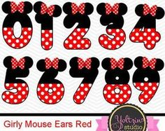 This Minnie Mouse clipart numbers Ears Red Black age digital clip is just one of the custom, handmade pieces you'll find in our clip art shops. Minnie Mouse Clipart, Minnie Mouse Cake, Mickey Mouse Birthday, Minnie Mouse Stickers, Mickey E Minie, Disney Classroom, Mini Mouse, Mouse Parties, Creations