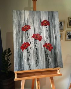 Acrylic on canvas, original design  Title: painted Poppy's