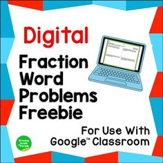 Digital Fraction Word Problems for Use With Google Slides/Classroom™ FREEBIE Operations With Fractions, Math Fractions, Add And Subtract Fractions, Fraction Word Problems, Digital Word, Fraction Games, Problem Set, Google Classroom, Books To Read