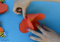 Paper Heart Flower Craft with Template - Easy Peasy and Fun Mothers Day Crafts For Kids, Crafts For Kids To Make, Christmas Crafts For Kids, Paper Flowers Craft, Easy Paper Crafts, Flower Crafts, Rocket Craft, Heart Crafts, Art N Craft