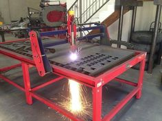 The CNC BurnTables doing its thing.