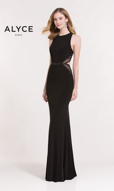 Long bodycon style dress with side cutouts and an open racerback.