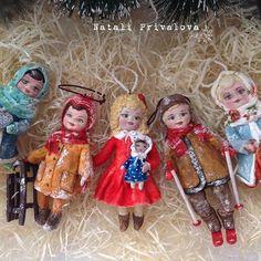 Ватные ёлочные игрушки 10 см (заказ) #vintage #вата #ватнаяигрушка #новыйгод #изваты #ватнаяелочнаяигрушка