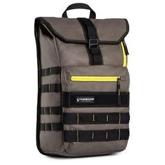 Timbuk2 Spire 15 MacBook Laptop Backpack, Cotton Canvas, Army/Acid #306-3-4484