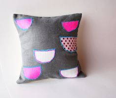 Bowl, pillow cover by Dana Komjaty of LeiLiLaLoo
