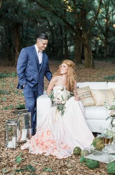 Whimsical Woodland Wedding Inspiration | Rising Lotus Photography | Pea to Tree Events