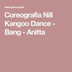 Coreografia Nill Kangoo Dance - Bang - Anitta