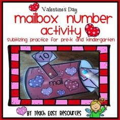 Win a Valentine's Day Math Activity Center for Pre-K!! Enter for your chance to win 1 of 3. Valentine's Day Mailbox Number Activity for Pre-K - Teach Easy Resources  (18 pages) from Teach Easy Resources on TeachersNotebook.com (Ends on on 02-07-2016) Your students will love mailing the 40 number valentines to the matching mailboxes.  Number cards come in three formats - numerals, written words, and heart counters!  A great math center for Valentine's week that also includes take-home black…