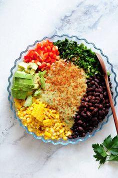 Vegetarian Recipes, Healthy Recipes, Corn Salads, Eat Right, Kitchen Recipes, Black Beans, Chana Masala, Veggies