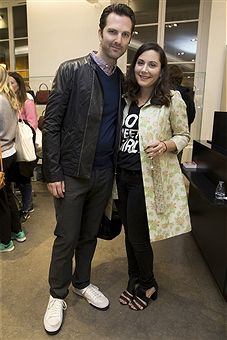 PARIS, FRANCE - NOVEMBER 12: Guest and Stacy Igel attend the 'Preciously Paris Bag',...
