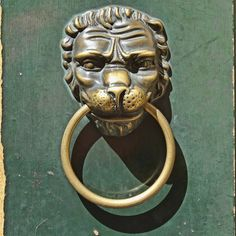 Rome Door Knocker | Dog door knocker seen in the Trastevere area of Rome.