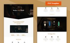 Barber - Barber PSD Template Template Site, Psd Templates, Text Icons, Web Design Software, Layer Style, Shopping World, Wordpress Template, Business Flyer, Creative Business