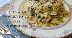 Cream Sauce Pasta, Parmesan Cream Sauce, Chili Recipes, Pasta Recipes, Favorite Chili Recipe, Pasta With Peas, Ham Dinner, Mozzarella Chicken, Creamy Pasta