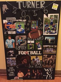 Creative High School Graduation Party Decor Ideas – Daily Sports News Senior Football Gifts, Football Homecoming, Senior Night Gifts, Senior Day, Football Banquet, Football Themes, Football Signs, Football Crafts, Football Stuff