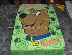 Next year's party for Mandy.  This cake and one of those huge Scooby and Shaggy sandwiches they like to eat!