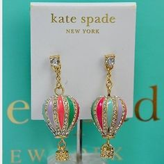 Kate Spade Balloon Earrings Kate spade balloon earrings, bought from a posher but sat in my jewelry box since so brand new still. No dust bag or box. Price is firm poshmark takes a lot from me kate spade Jewelry Earrings
