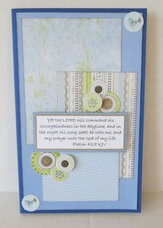 Handmade Blue Christian Prayer Journal With Notepad and Scripture by stufffromtrees on Etsy
