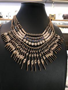 b8b6268cc65b Collar de cristal y metal dorado Estilo Gypsiy chic gypsi necklace Gold  metal