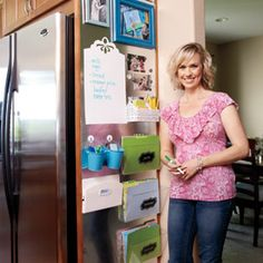 Kitchen Command Center - personalized magnetic bins for storage