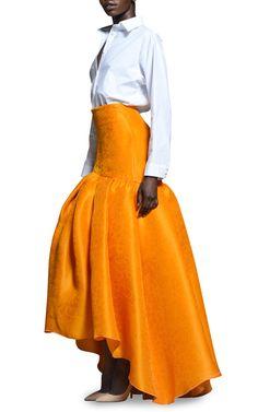 Rosie Assoulin Satsuma Floral Jacquard Brush Skirt by Rosie Assoulin for Preorder on Moda Operandi