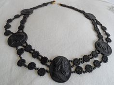Victorian very unusual  superb collar with classical revival cameos c 1870 by vintagebouquets on Etsy