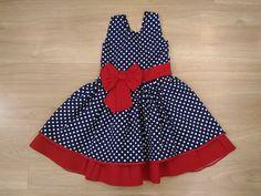 Vestido Infantil Poá