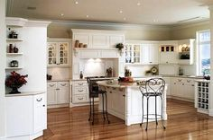 Shabby chic white kitchen cabinets country chic kitchen shabby chic white kitchen cabinets country chic kitchen pretty white kitchen interior design home Country Style Kitchen, Country Kitchen Island, Interior Design Kitchen, Country White Kitchen, White Kitchen Design, Country Kitchen Decor, Country Chic Kitchen, Country Kitchen Designs, Shabby Chic Kitchen Cabinets