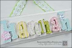 Custom name plaque - made to order wall letter sign, personlized heirloom quality children's nursery art and decor