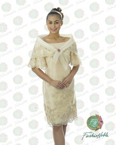 Filipiniana Dress with Panuelo