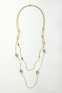 jade-dotted double stranded necklace