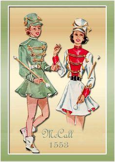 McCalls 1553--Majorette Costume for Adult Woman