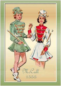 1950s Majorette Costume Vintage McCalls 1553 Dress with Hat and Trunks Womans Adult Size 14