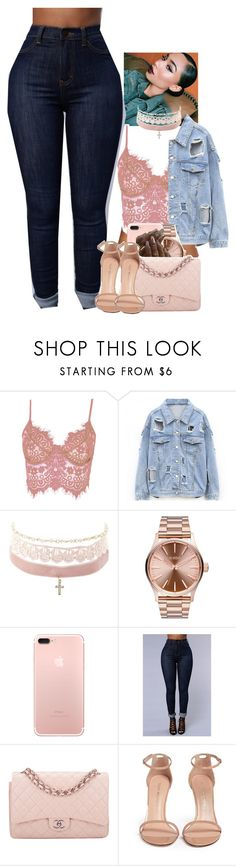 """Untitled #2005"" by toniiiiiiiiiiiiiii ❤ liked on Polyvore featuring WithChic, Charlotte Russe, Nixon, Chanel and Stuart Weitzman"