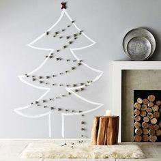 Peindre son sapin de Noël au mur, une idée originale et audacieuse
