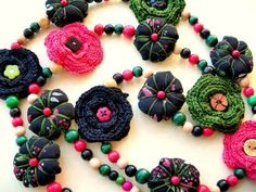 Collar Fleurs by Lolo & Olé! (Inma), via Flickr