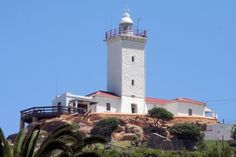 Blaize Lighthouse in Mossel Bay Wind Mills, Lighthouse Pictures, Borders And Frames, Water Tower, Light House, Whale Watching, Amazing Architecture, South Africa, Ocean