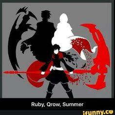 RWBY Ruby, Qrow, Summer