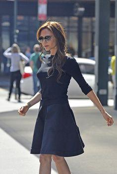 Womens Victoria Beckham Style Celebrity Blue Dress Colthes Skirt Dresses 081   eBay