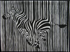 One of my best girl friends is a big zebra lover. When I say big, what I really mean is HUGE - huge as in almost every room in her house is decorated with zebra Patchwork Quilting, Applique Quilts, Longarm Quilting, Zebra Kunst, Zebra Art, Op Art, Gravure Laser, Black And White Quilts, Quilt Modernen