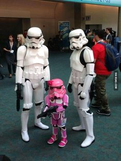 Family of Stormtroopers.