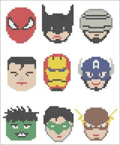 BOGO FREE Superheroes Batman Captain America door Rainbowstitchcross