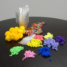 -Pollination Simulation- Grades (Kit) Simulate the role worker bees play in pollination by conducting a pollination simulation. Each kit includes pompoms, cups, jewel bags, yarn, and straws. Punnett Square Activity, Homeschool Coop, Grade 3, Curriculum, Literacy, Activities, Projects, Classroom Resources, Straws