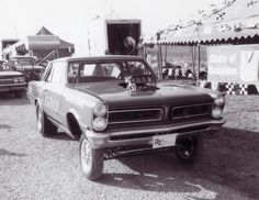 Reinauer & Cobb 421 GTO Funny Car at the NHRA World Finals in Tulsa, OK, late '60s.
